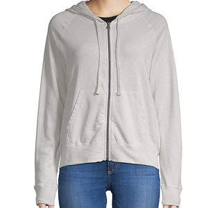 James Perse Supima Cotton Classic Zip-Up Hoodie